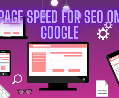 web page speed and seo on google result banner